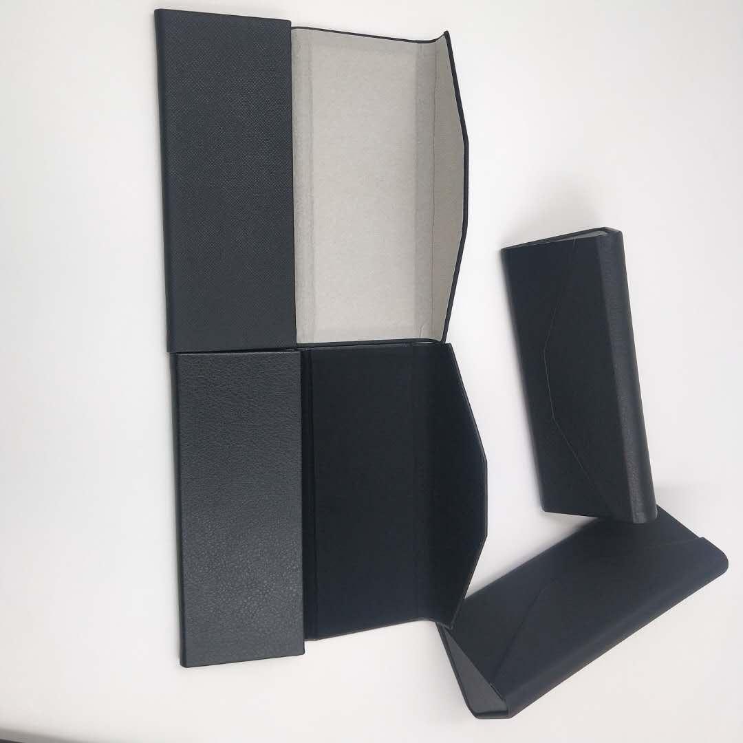 Triangle folding handmade glasses box can be customized logo sunglasses glasses frame case for wholesale