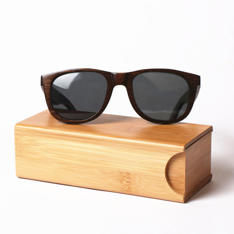 2019 new design bamboo sunglasses box glasses case with wholesale price