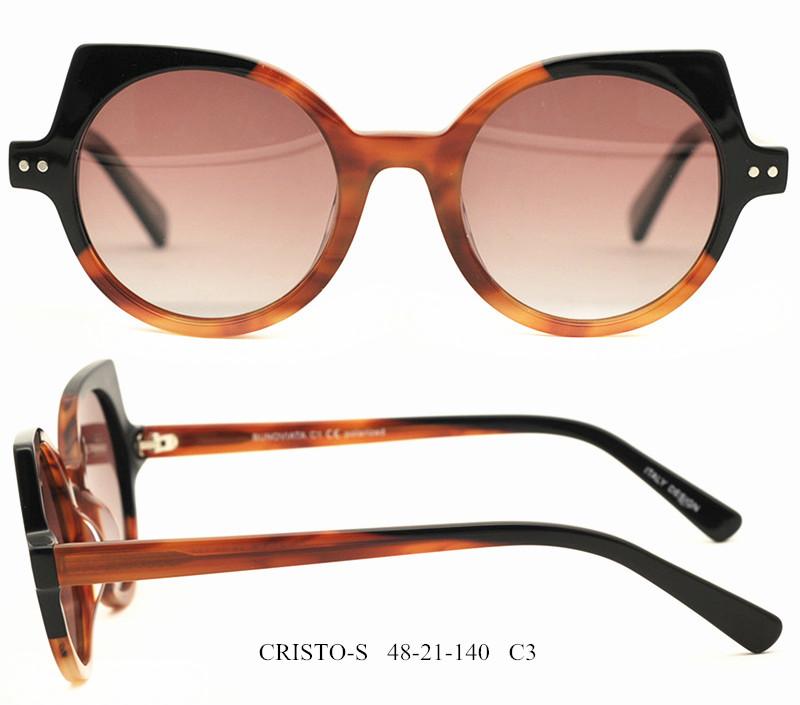 (RTS) CRISTO-S Acetate sunglasses 2021 cat eye acetate sunglasses oval acetate sunglasses acetate sunglasses women with small MOQ