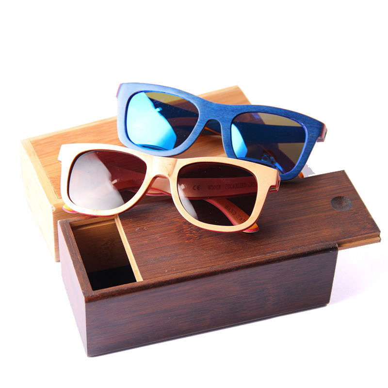 6004 Factory directly bamboo sunglasses box glasses with high quality