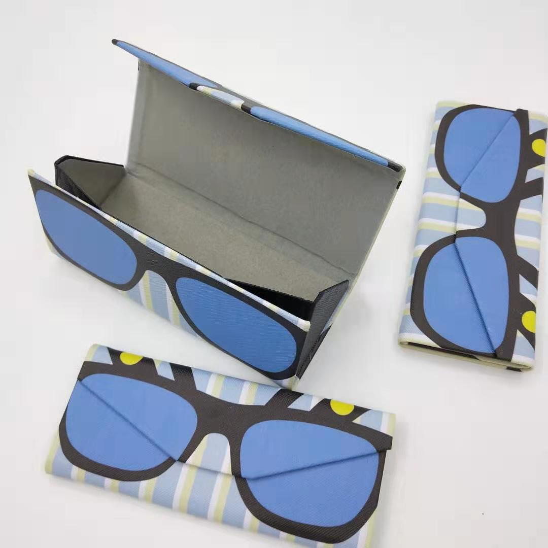 806 colorful glasses case blue sunglasses box withe good quality